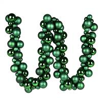 6' Emerald Asst Orn Ball Garland