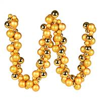 6' Antique Gold Asst Orn Ball Garland