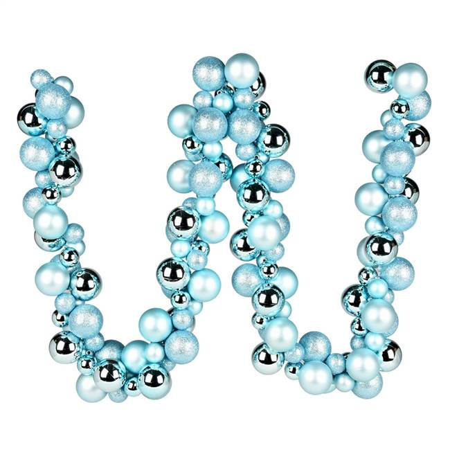 6' Baby Blue Asst Orn Ball Garland