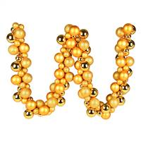 6' Honey Gold Asst Orn Ball Garland