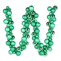 6' Seafoam Green Asst Orn Ball Garland