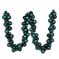 6' Sea Blue Asst Orn Ball Garland