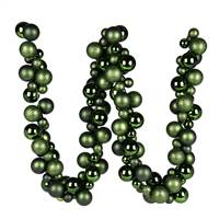 6' Moss Green Asst Orn Ball Garland
