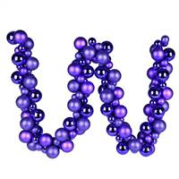 6' Purple Asst Orn Ball Garland