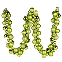 6' Lime Asst Orn Ball Garland