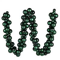 6' Midnight Green Asst Orn Ball Garland