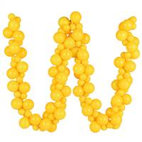 6' Yellow Asst Orn Ball Garland