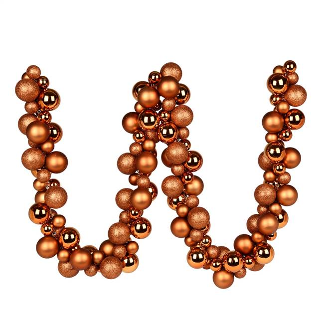 6' Copper Asst Orn Ball Garland