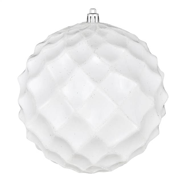"4"" White Shiny Form Ball 6/Bag"
