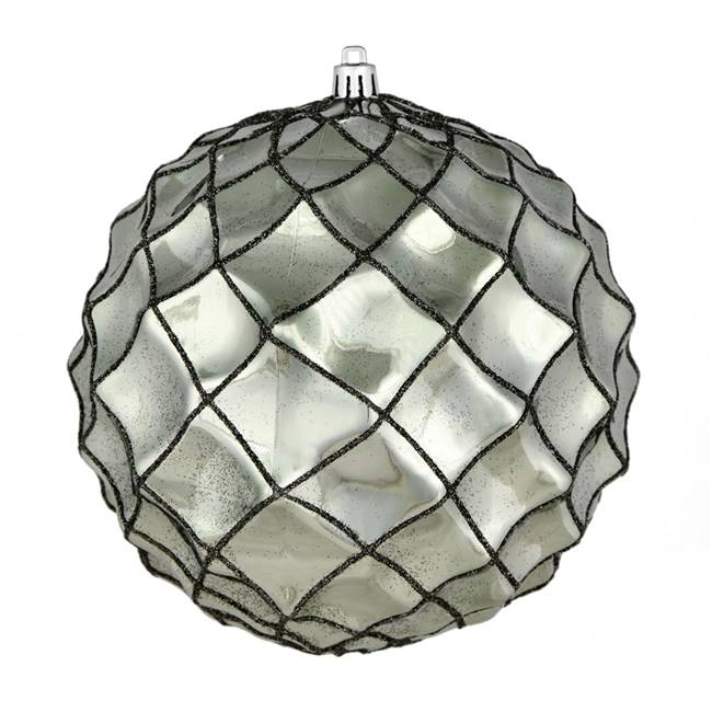 "4"" Wrought Iron Shiny Form Ball 6/Bag"