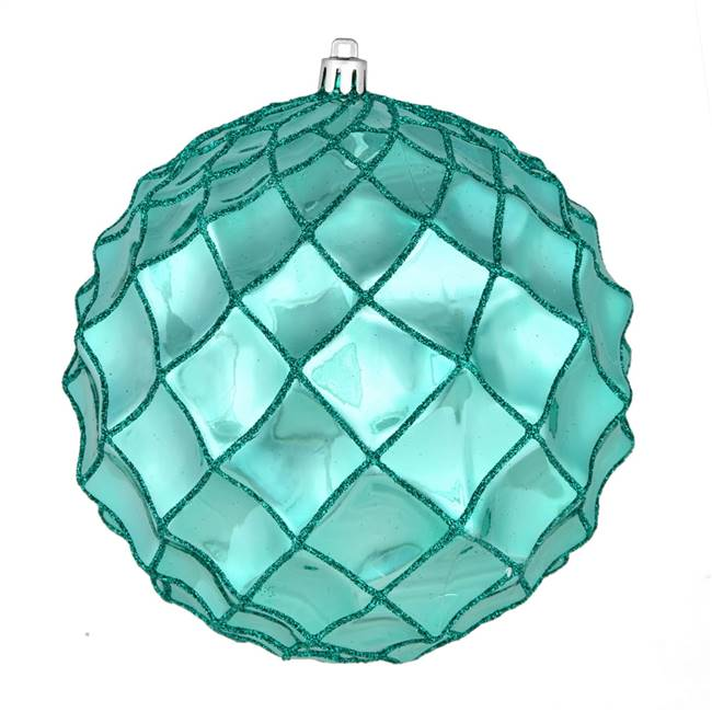 "4"" Teal Shiny Form Ball 6/Bag"