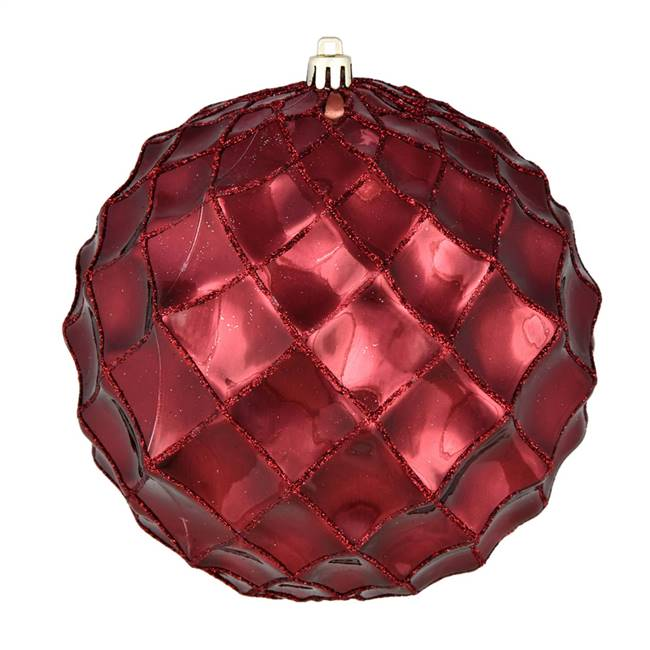 "4"" Burgundy Shiny Form Ball 6/Bag"