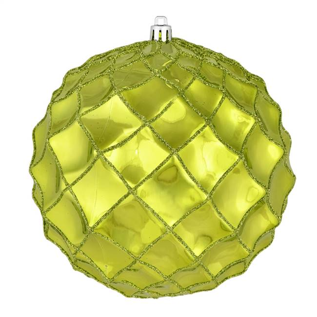 "4"" Lime Shiny Form Ball 6/Bag"