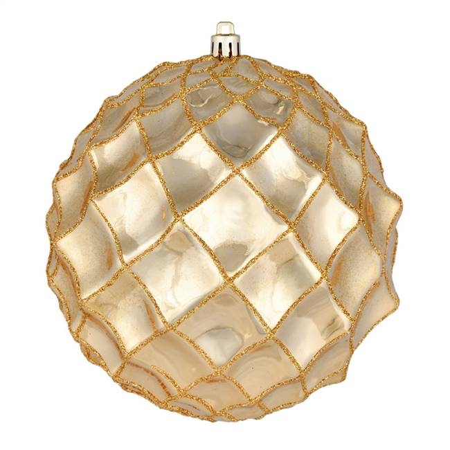 "6"" Gold Shiny Form Ball 4/Bag"