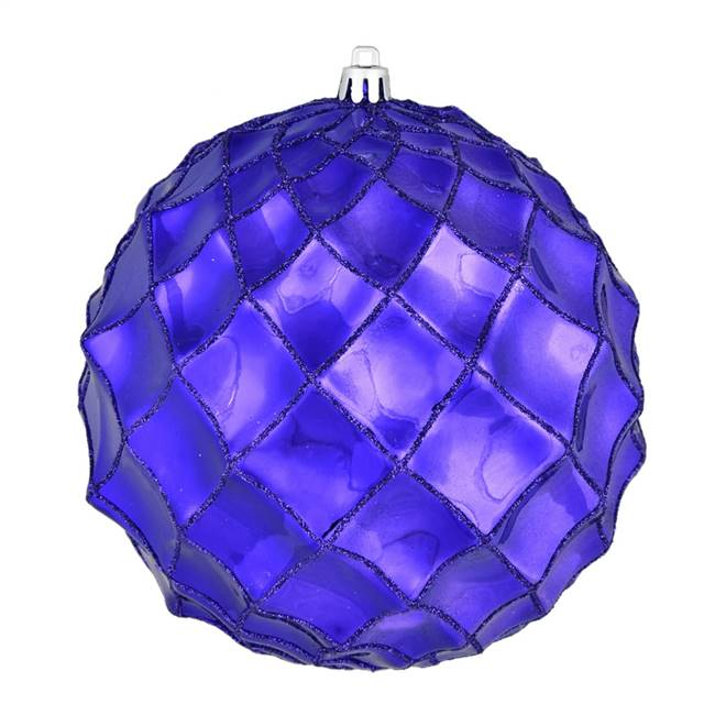 "6"" Purple Shiny Form Ball 4/Bag"
