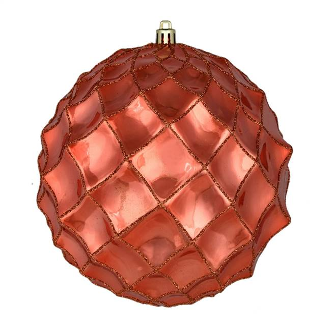 "6"" Coral Shiny Form Ball 4/Bag"