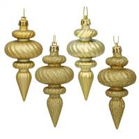 "4"" Gold Finial 4 Finish Asst 8/Bx"