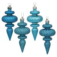 "4"" Turquoise Finial 4 Finish Asst 8/Bx"