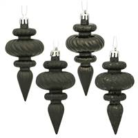 "4"" Black Finial 4 Finish Asst 8/Bx"