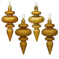 "4"" Anti Gold Finial 4 Finish Asst 8/Bx"