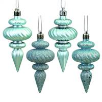 "4"" Baby Blue Finial 4 Finish Asst 8/Bx"
