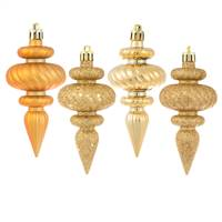 "4"" Copper/Gold Finial 4 Finish Asst 8/Bx"