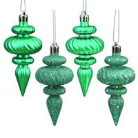 "4"" Teal Finial 4 Finish Asst 8/Bx"