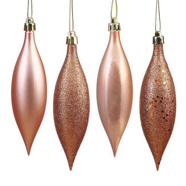 "5.5"" Rose Gold Drop 4 Finish Asst 8/Bx"