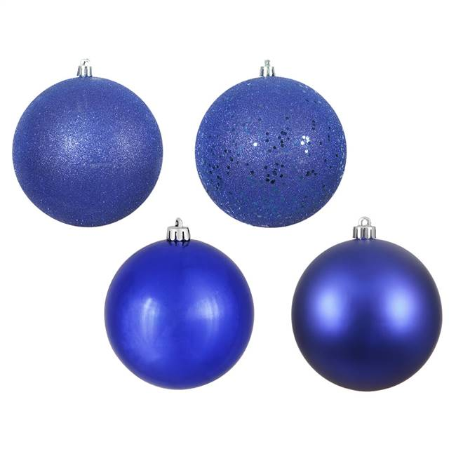 "1"" Cobalt Blue 4 Finish Ball Asst 18/Bx"
