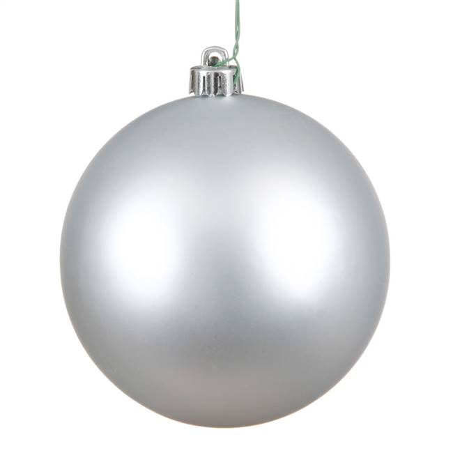 "4"" Silver Matte Ball UV Drilled 6/Bag"