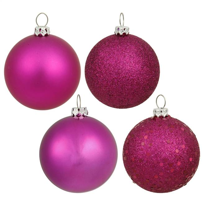 "4"" Magenta 4 Finish Ball Asst 12/Bx"
