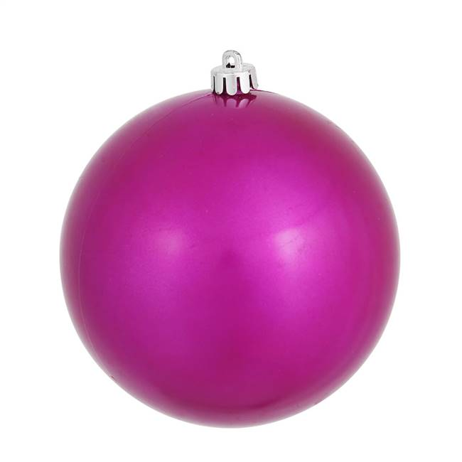 "4"" Magenta Candy Ball UV Drilled 6/Bag"