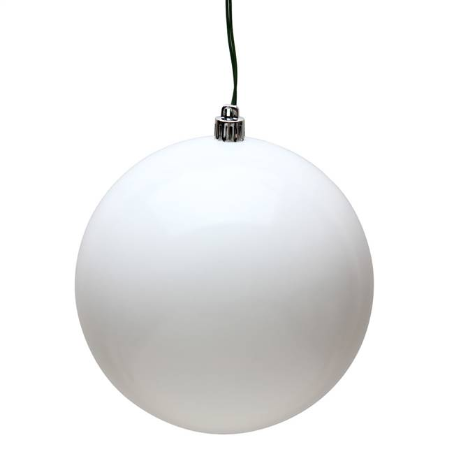 "4"" White Candy Ball UV 6/Bag"