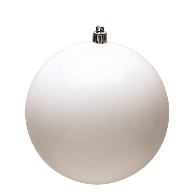 "4"" White Shiny Ball UV 6/Bag"