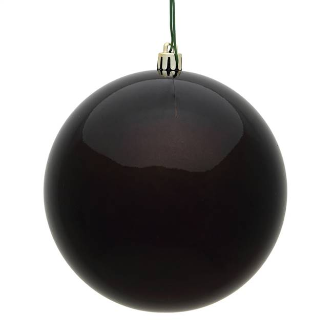 "4"" Chocolate Candy Ball UV Drilled 6/Bag"