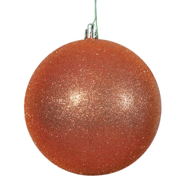 "4"" Burn Org Glitter Ball Drilled 6/Bag"