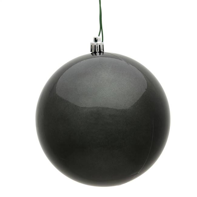 "4"" Pewter Candy Ball UV Drilled 6/Bag"
