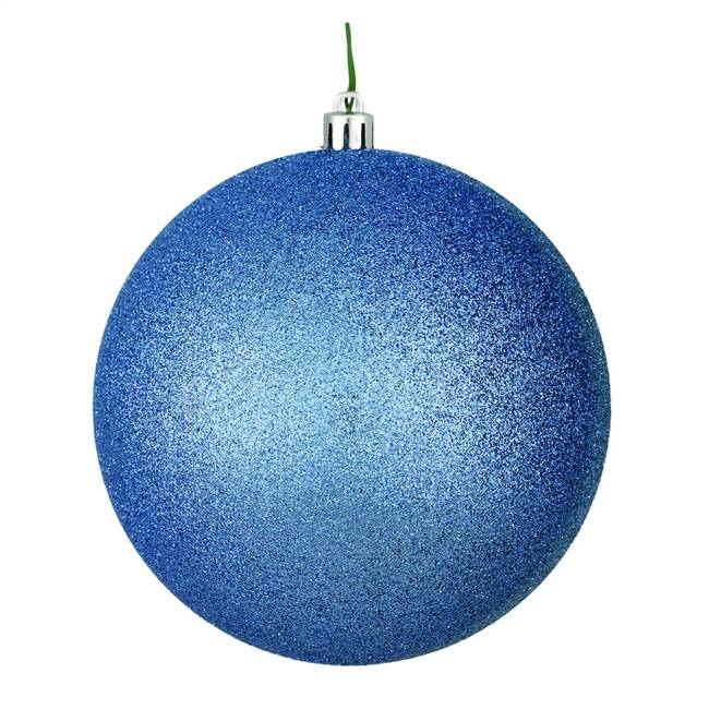 "4"" Periwinkle Glitter Ball Drill 6/Bag"