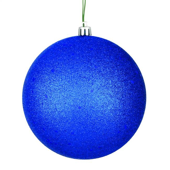 "4"" Midnt Blue Sequin Ball Drilled 6/Bag"