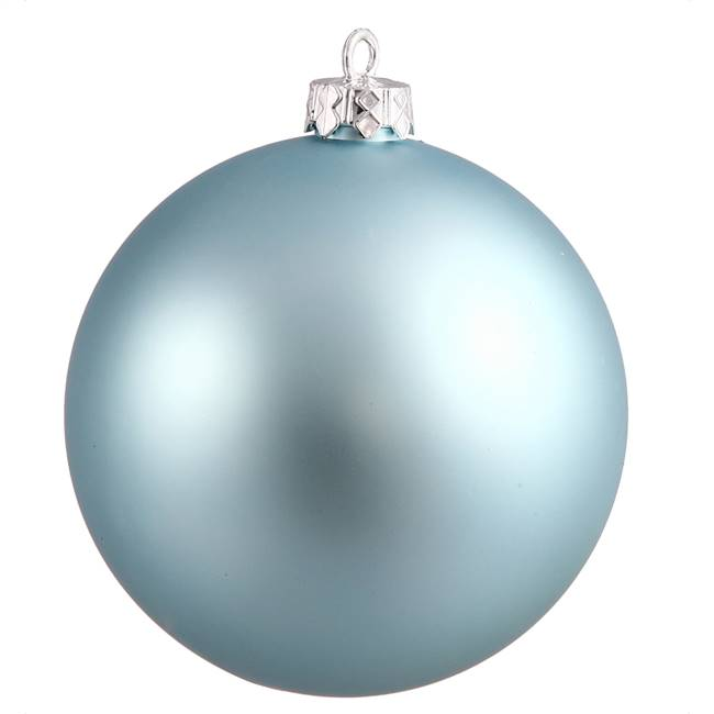 "4"" Baby Blue Matte Ball UV Drilled 6/Bag"