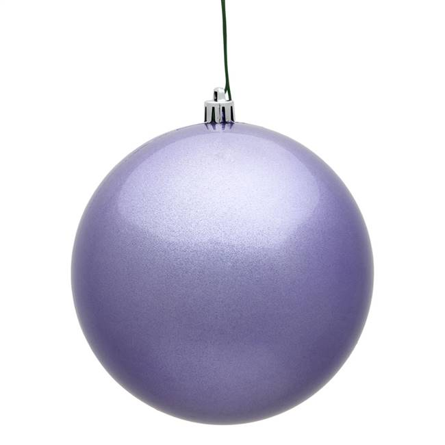 "4"" Lavender Candy Ball UV Drilled 6/Bag"