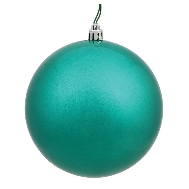 "4"" Teal Candy Ball UV Drilled 6/Bg"