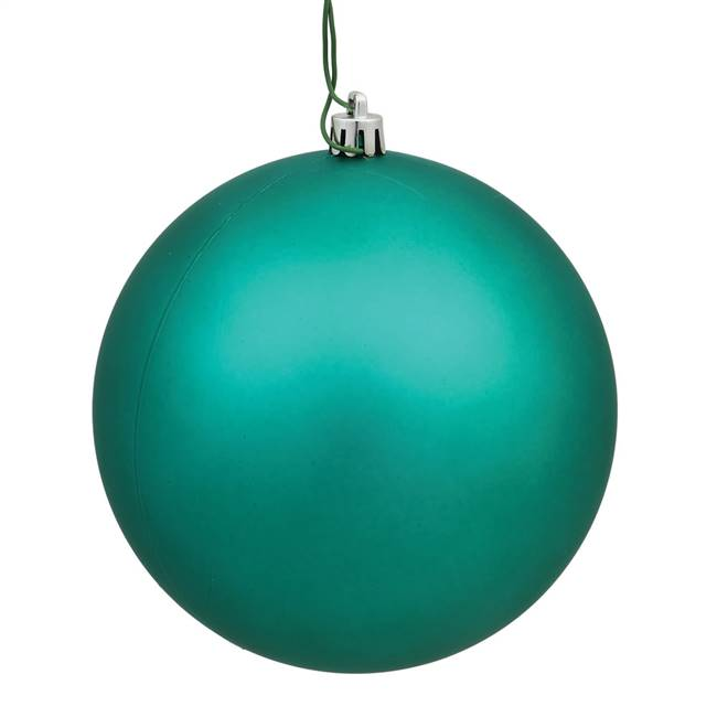 "4"" Teal Matte Ball UV Drilled 6/Bg"