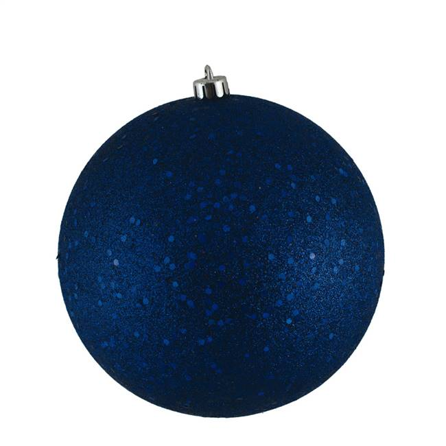 "4"" Sea Blue Sequin Ball Drilled 6/Bag"