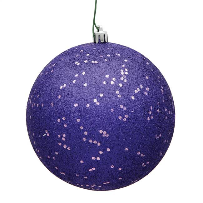 "4"" Purple Sequin Ball Drilled 6/Bag"