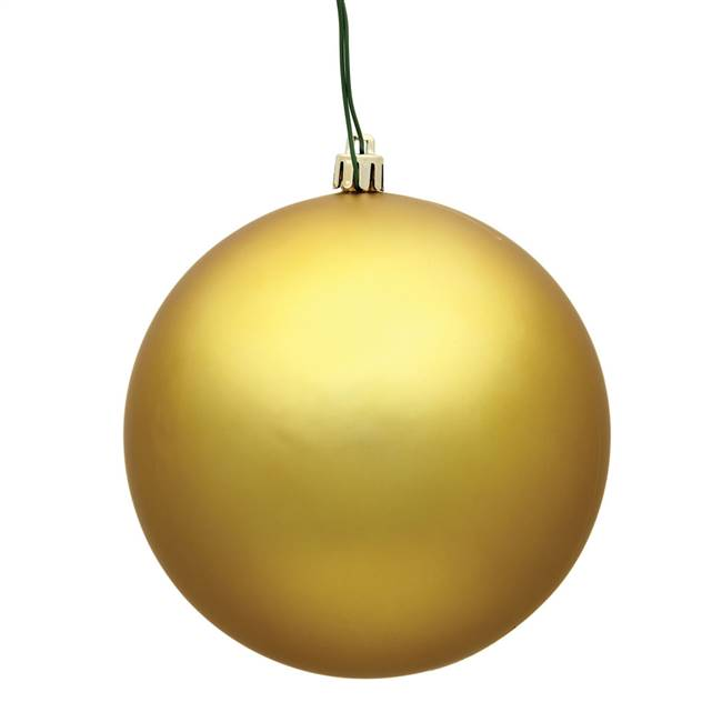 "4"" Gold Matte Ball UV 6/Bag"