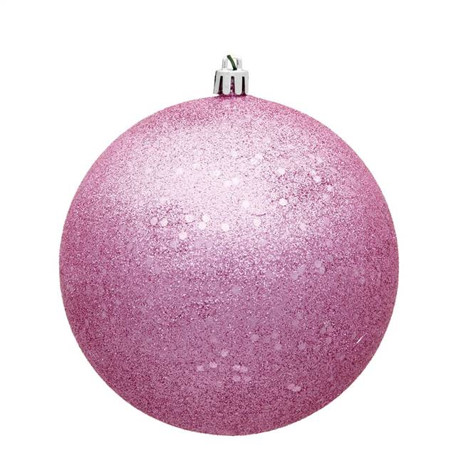 "4"" Pink Sequin Ball Drilled 6/Bag"