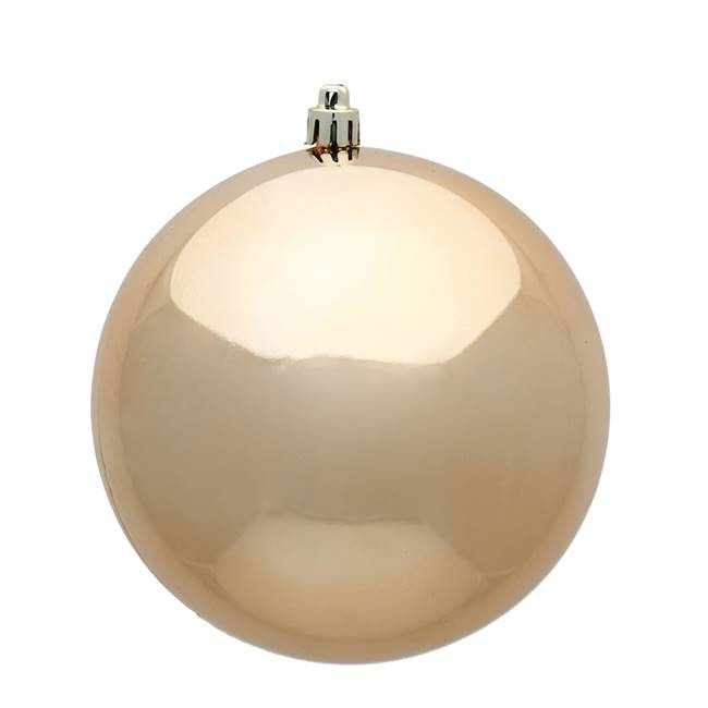 "4"" Cafe Latte Shiny Ball UV 6/Bag"