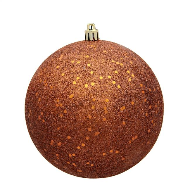 "4"" Copper Sequin Ball Drilled 6/Bag"