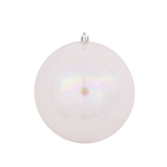 "4.75"" Clear Iridescent Ball Drilled 4/Bg"